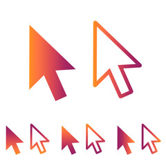 Computer Mouse Click Pointer Arrow - Flat Icon For Apps And Websites - Retro Hipster Vector Illustration