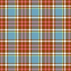 Tartan seamless plaid pattern in blue, pink, brown, green and white color