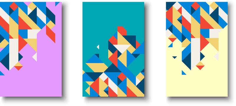 Backgrounds with abstract colorful geometric pattern.