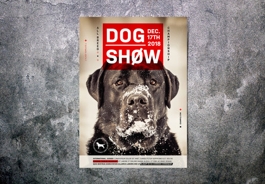 Red and Black Dog Show Flyer Layout
