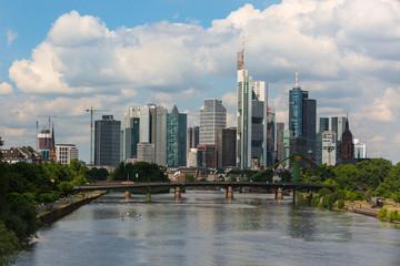 Frankfurt, Germany skyline panorama from Osthafen