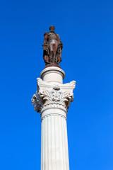 Bronzestatue Pedro IV. in Lissabon