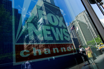 A Fox News channel sign is seen at the News Corporation building in the Manhattan borough of New York City, New York
