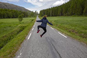 Jump on the road