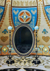 Fantasy Egyptian mirror in a temple.
