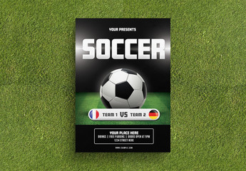 Soccer Game Flyer Layout