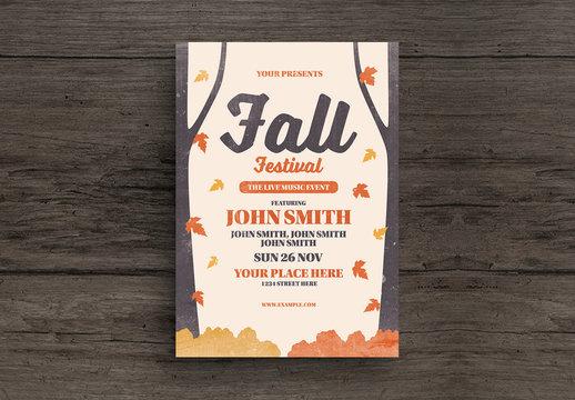 Fall Festival Flyer Layout