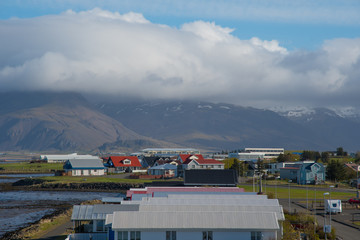 Town of Hofn in southeast Iceland