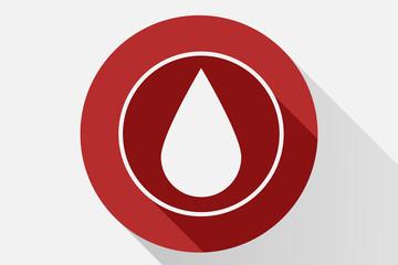 Icono rojo de sangre.