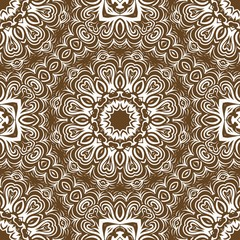 Decorative wallpaper for interior design. Modern geometric floral ornament. Seamless vector illustration