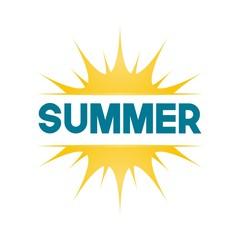 Summer Vector Template Design Illustration
