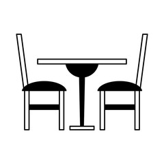 Table and chairs vector illustration graphic design