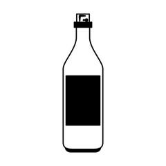 Wine bottle isolated vector illustration graphic design