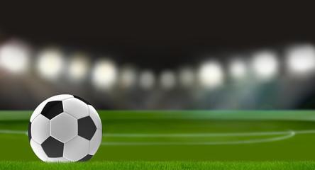 soccer stadium soccer ball 3d rendering