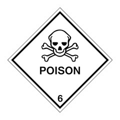 Hazard Warning Poison 6 Labels