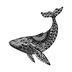 Whale tattoo illustration