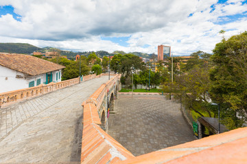 broken bridge panoramic view Cuenca Ecuador