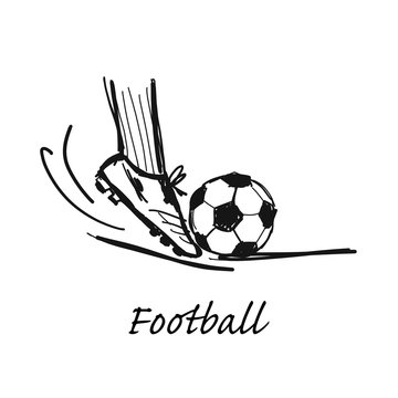 Football, sketch for your design