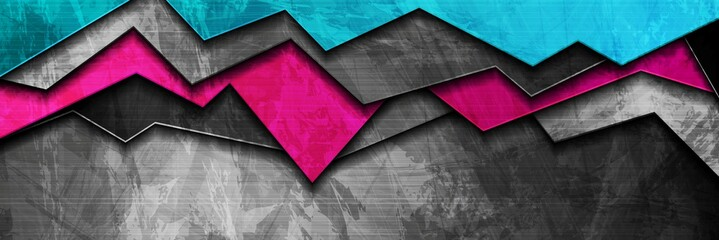 Abstract bright grunge banner design