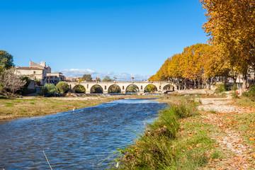 le Vidourle à Sommières, Gard, France