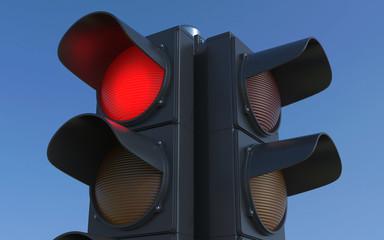 Traffic light. 3D rendering