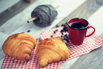 Printed roller blinds Coffee bar croissant, café