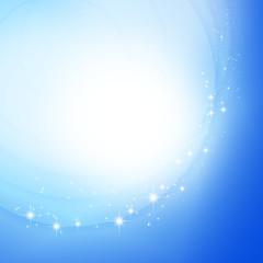 重なる円と煌めく星