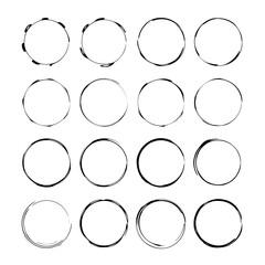 Set of black empy grunge frames.  Vector illustration.