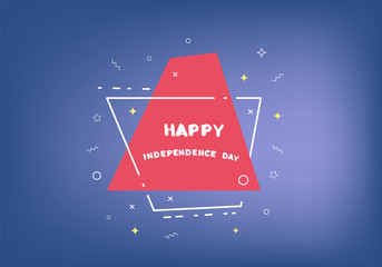 Happy Independence Day banner. 4 July. Vector illustration.