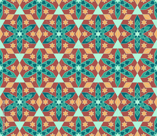 Highquality Colorful Wallpaper In Islamic Or Arabic Style Seamless Magnificent Asian Patterns