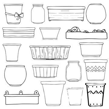 Flowerpots, vases, boxes