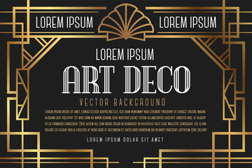 Luxury Vintage Artdeco Frame Design. Vector illustration
