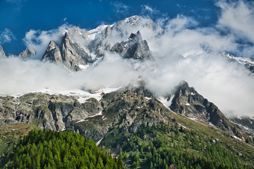 Clouds over the Mont Blanc group