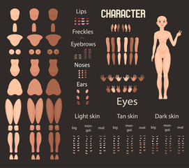 Stylized character set for animation