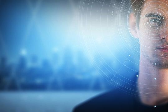 Technology and biometrics concept