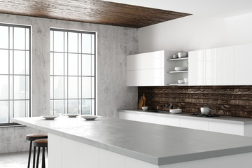 Wall Mural - Light loft kitchen interior