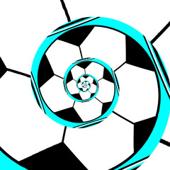 Abstract football spiral