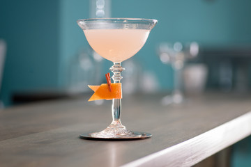 bartender prepares a great cocktail