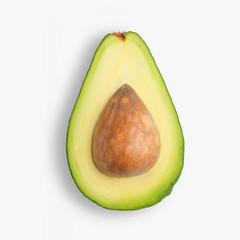 Cut fresh avocado with bone. Isolate