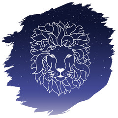 Zodiac sign - leo. Vector illustration
