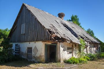 Old barn landscape.