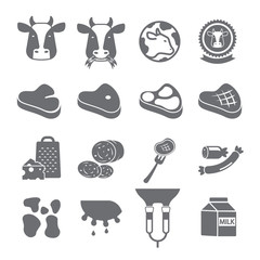 Cow and beef icon