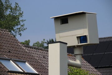 Radar speed camera which will make phote when speed is too high in the Netherlands