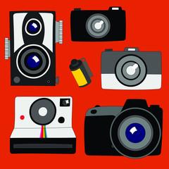 Digital and Film Camera Vector Elements