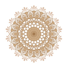 Mandala pattern.Ornament of flowers in color .Retro decor