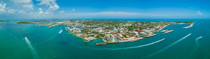 Aerial panorama Key West Florida stock image