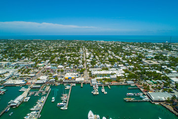Aerial stock photo of Key West Florida