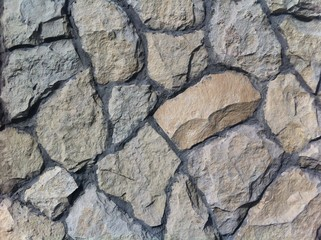 Decorative natural stone. Natural decoration of the facade of the house, building