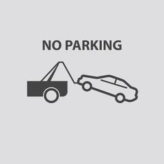 No parking icon, Vector