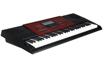 red synthesizer isolated
